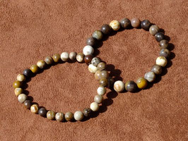 Bracelets en bois fossilisé