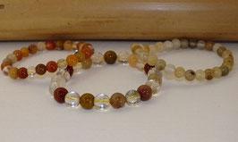 Bracelets en quartz rutile