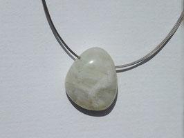 Pierre de lune blanche en pierres percées