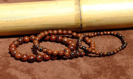 Bracelets en obsidienne acajou