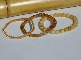 Bracelets en citrine chauffée