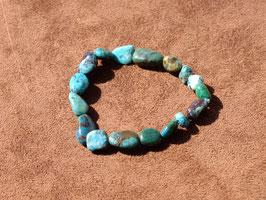 Bracelets en chrysocolle stabilisée (irréguliers)