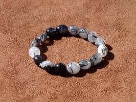Bracelets en quartz tourmaline (irréguliers)