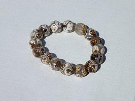 Bracelets en agate du Tibet claire