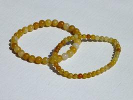 Bracelets en jaspe jaune