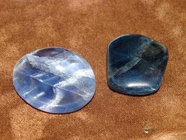 Fluorite bleue en palets roulés