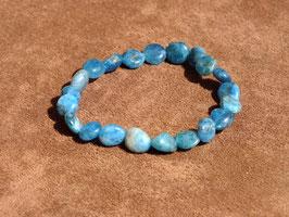 Bracelets en apatite bleue (irréguliers)
