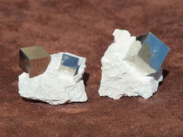 Pyrite cube brute sur matrice