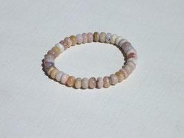 Bracelets en opale des Andes rose en perles plates