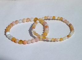 Bracelets en agate abricot (brillant)