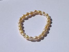 Bracelets en perles rosées (irréguliers)