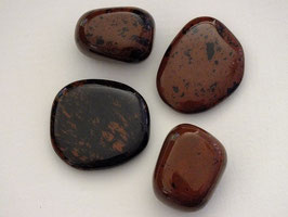 Obsidienne acajou en palets roulés