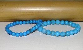 Bracelets en howlite teintée