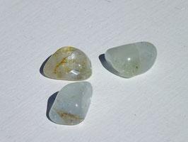 Topaze bleue en pierres roulées