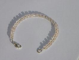 Bracelet en quartz rose (BV073)