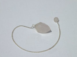 Pendule en quartz rose 02