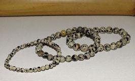 Bracelets en jaspe dalmatien