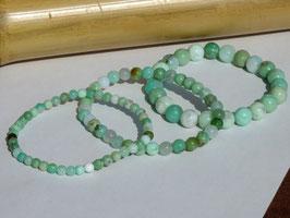 Bracelets en chrysoprase