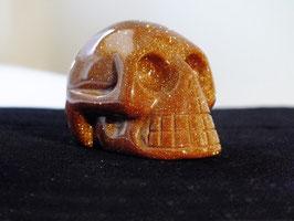 Crâne en rivière d'or brune