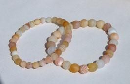 Bracelets en agate abricot (mat)