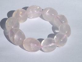 Bracelets en quartz rose (irréguliers)