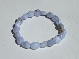Bracelets en calcédoine bleue (irréguliers)