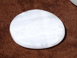 Sélénite blanche en palets roulés