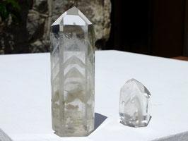Pointes taillées en cristal de roche fantôme