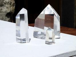 Pointes taillées en cristal de roche