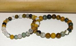 Bracelets en jaspe océan