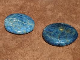 Apatite bleue en palets roulés