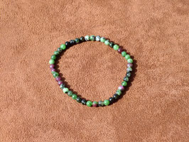 Bracelets en zoïsite-rubis