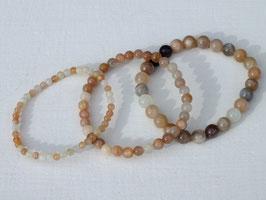 Bracelets en pierre de lune multicolore