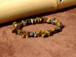 Bracelets en oeil-de-tigre baroques