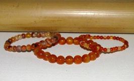 Bracelets en cornaline