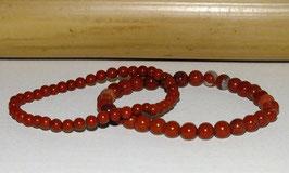 Bracelets en jaspe rouge
