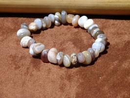 Bracelets baroques en agate du Botswana