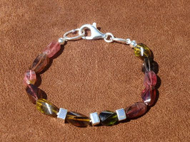 Bracelet en tourmaline multicolore (B005)