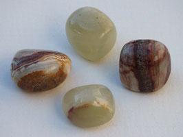 Aragonite verte en pierres roulées