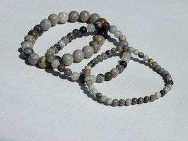 Bracelets en jaspe picasso clair