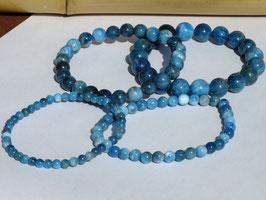 Bracelets en apatite bleue claire
