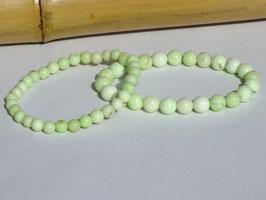 Bracelets en chrysoprase citron