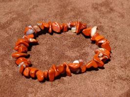 Bracelets baroques en jaspe rouge