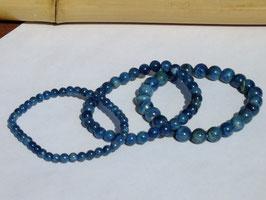 Bracelets en apatite bleue foncée