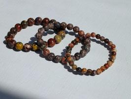 Bracelets en jaspe léopard