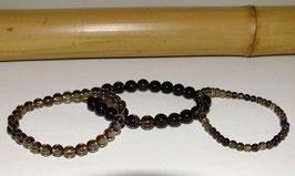 Bracelets en quartz fumé