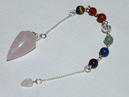 Pendule en quartz rose n° 02