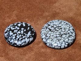 Obsidienne flocons de neige en palets roulés