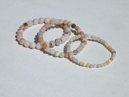 Bracelets en opale des Andes rose