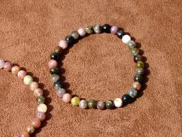 Bracelets en tourmaline mutlicolore